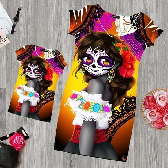 3499e7746 Day of the Dead Catrina Dress Halloween Muertos. Boutique. Cielito Lindo